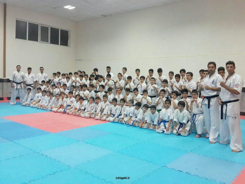 تمرین مشترک باشگاه های ایچی گکی کیوکوشین کاراته کانچو ماتسویی استان کرمانشاه
